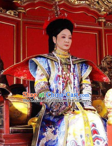 Chinese Traditional Palace Lady Historical Costume China Qing Dynasty Yongzheng Queen Mother Clothing
