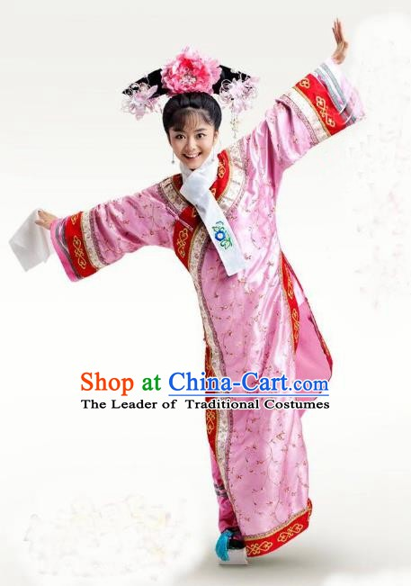 Chinese Traditional Palace Lady Historical Costume China Qing Dynasty Yongzheng Consort Chun Clothing