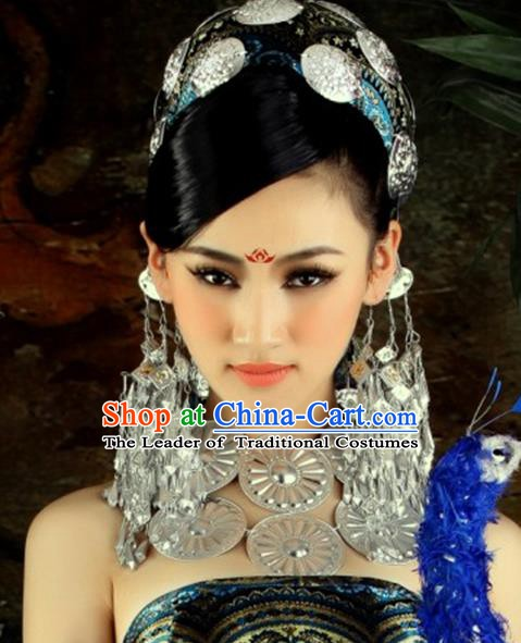 Traditional Chinese Miao Nationality Accessories Earrings