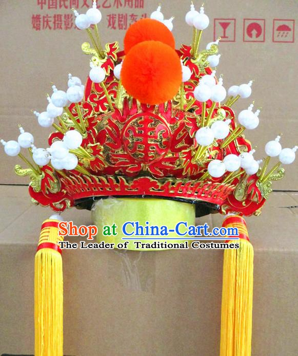 Traditional Chinese Beijing Opera Emperor Hair Accessories Hats Headwear