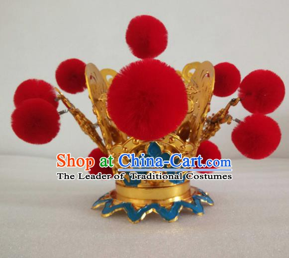 Traditional Chinese Beijing Opera Niche Hair Accessories Peking Opera Lang Scholar Hairdo Crown Headwear