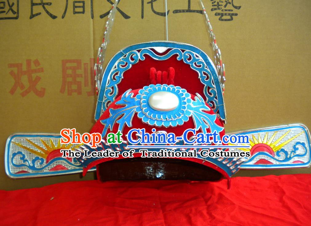 Traditional Chinese Beijing Opera Niche Hair Accessories Peking Opera Bridegroom Red Hats Headwear