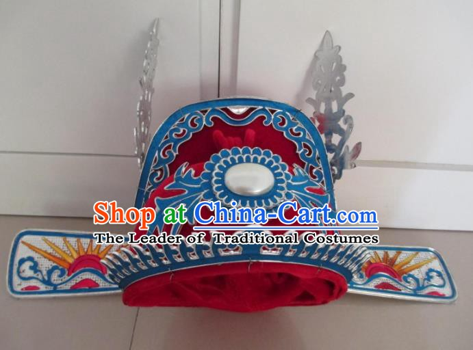 Traditional Chinese Beijing Opera Niche Bridegroom Red Hats Hair Accessories Peking Opera Headwear