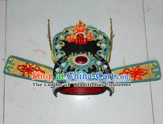 Traditional Chinese Beijing Opera Niche Hair Accessories Peking Opera Bridegroom Black Hats Headwear