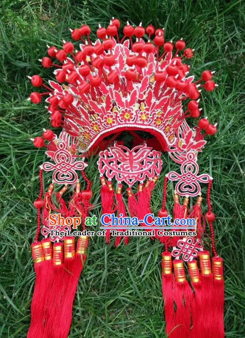Traditional Chinese Beijing Opera Bride Butterfly Phoenix Coronet Peking Opera Actress Headwear