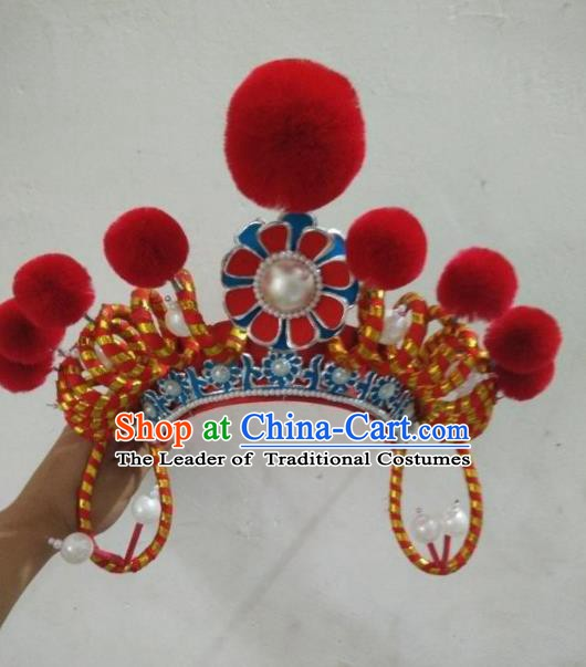 Traditional Chinese Beijing Opera Martial Arts Female Hats Peking Opera Actress Headwear