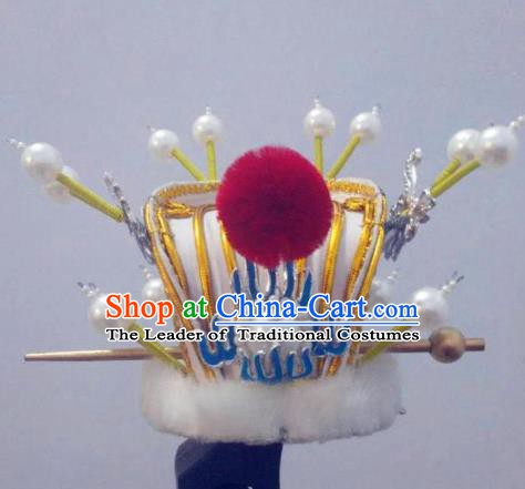 Traditional Chinese Beijing Opera Niche Hair Accessories Peking Opera Prince Hair Crown Headwear