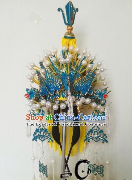 Chinese Traditional Beijing Opera Pantaloon Phoenix Coronet Peking Opera Old Women Hats Headwear