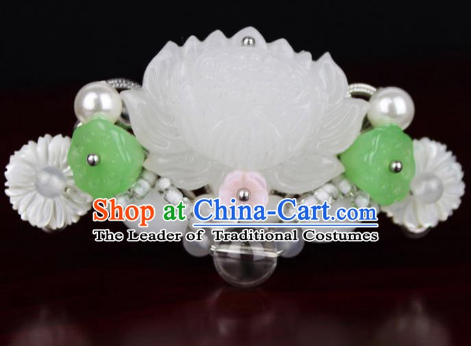 Chinese Ancient Handmade Hair Accessories Classical Hairpins Lotus Hair Clips for Women