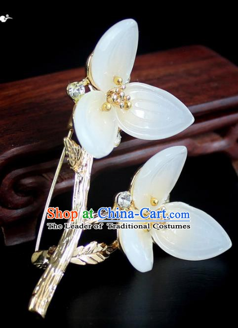 Chinese Ancient Handmade Brooch Accessories Flowers Breastpin for Women