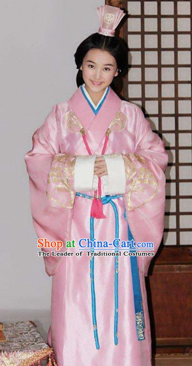 Ancient Traditional Chinese Han Dynasty Nobility Lady Liu Yan Replica Costume Hanfu Dress for Women