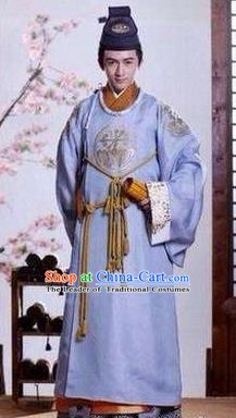 Traditional Ancient Chinese Han Dynasty Nobility Childe Kou Feng Replica Costume for Men