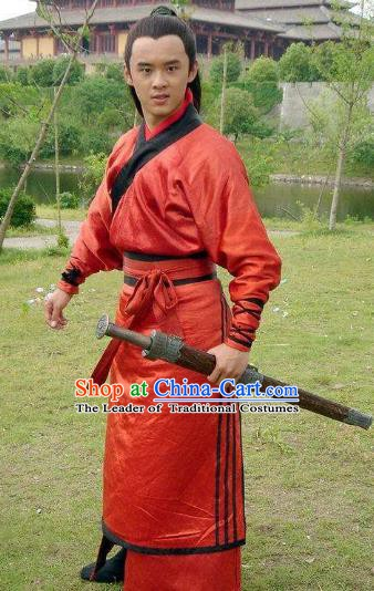 Traditional Chinese Han Dynasty Military Officer General Huo Qubing Replica Costume for Men