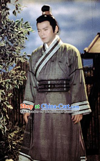 Chinese Ancient Spring and Autumn Period Kingdom Jin Swordsman Tu'an Gu Replica Costume for Men