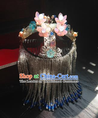 Chinese Handmade Ancient Peking Opera Hair Accessories Classical Hanfu Headwear Hairpins for Women