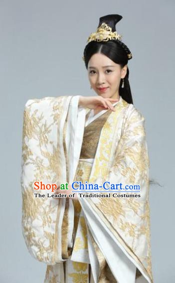 Chinese Ancient Tang Dynasty Empress Dowager Dugu Mantuo Replica Costume for Women