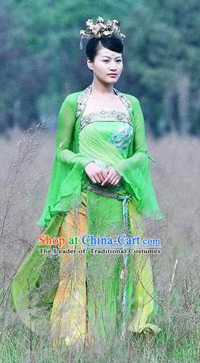 Chinese Ancient Tang Dynasty Female Assassin Courtesan Hanfu Dress Replica Costume for Women