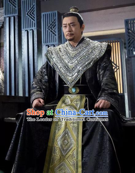 Chinese Ancient Sui Dynasty Minister General Yuwen Hu Replica Costume for Men