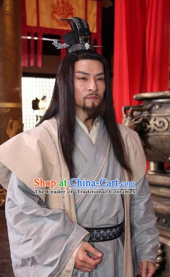 Chinese Ancient Sui Dynasty General Zhai Rang Replica Costume for Men