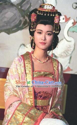 Chinese Ancient Tang Dynasty Imperial Empress Zhangsun Hanfu Dress Replica Costume for Women