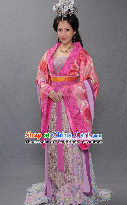 Ancient Chinese Warring States Period Imperial Consort Xia of Qi State Hanfu Dress Replica Costume for Women