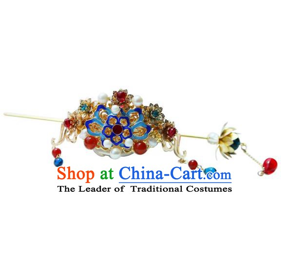 Chinese Ancient Handmade Hanfu Hairdo Crown Hairpins Hair Accessories for Women