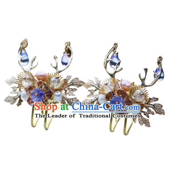 Chinese Ancient Handmade Hanfu Hairpins Palace Lady Hair Accessories for Women
