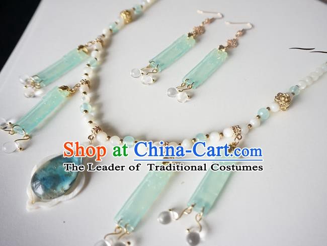Chinese Handmade Ancient Jewelry Accessories Crystal Necklace and Earrings for Women