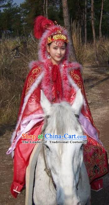 Chinese Ancient Han Dynasty Princess Wang Zhaojun Hanfu Dress Replica Costume for Women
