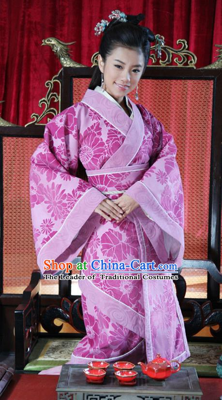 Ancient Chinese Spring and Autumn Period Wei State Princess Consort Hanfu Dress Palace Queen Replica Costume for Women