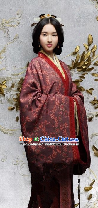 Chinese Eastern Han Dynasty Empress He Hanfu Dress Ancient Queen Replica Costume for Women