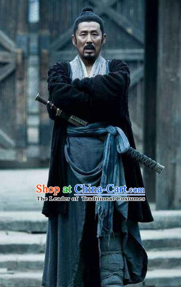 Ancient Chinese Han Dynasty Peasant Uprising Leader Liu Bang Historical Costume for Men