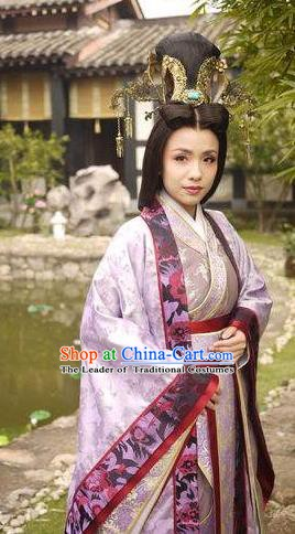 Chinese Ancient Three Kingdoms Period Imperial Concubine Hanfu Dress Embroidered Replica Costume for Women