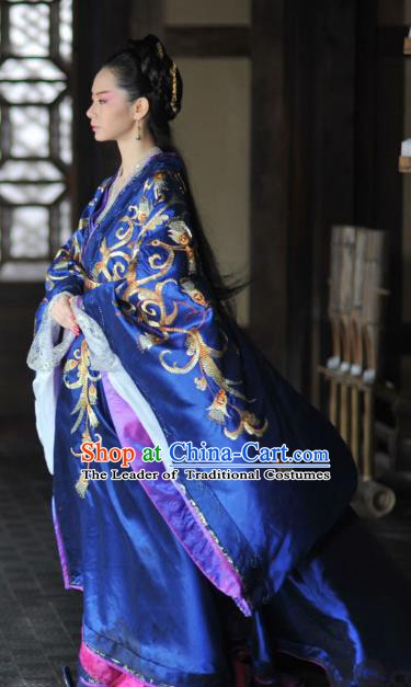 Ancient Chinese Warring States Period Palace Princess Jinshu Hanfu Dress Embroidered Replica Costume for Women