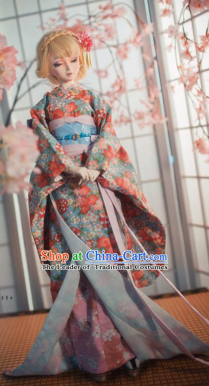 Traditional Asian Japan Costume Japanese Courtesan Iromuji Kimono Vibration Sleeve Kimono Clothing for Women