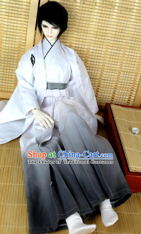 Traditional Asian Japan Costume Japanese Prince Kimono Haori Hakama Clothing for Men