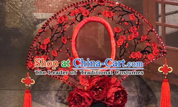 Top Grade China Ancient Hair Accessories Palace Flowers Hair Crown Halloween Stage Performance Headdress for Women