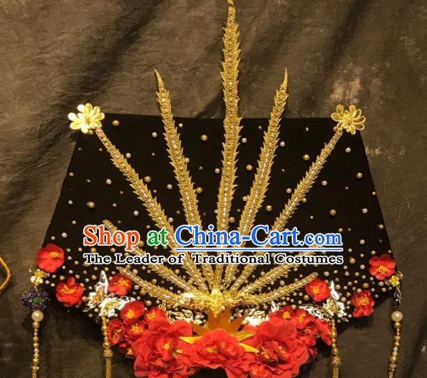 Top Grade China Ancient Deluxe Palace Hair Accessories Headdress Halloween Stage Performance Headwear for Women