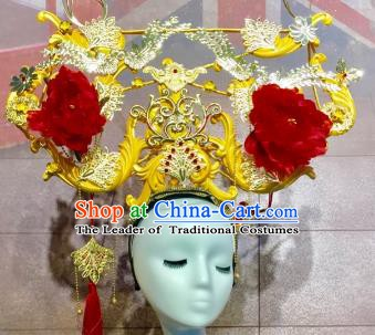 Top Grade China Handmade Hair Accessories Stage Performance Queen Phoenix Coronet Headdress for Women