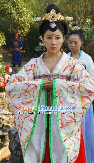 Ancient Chinese Tang Dynasty Female Officials Shangguan Wan-Er Hanfu Dress Replica Costume for Women