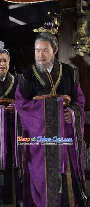 Ancient Chinese Spring and Autumn Period Wu State Minister Replica Costumes for Men