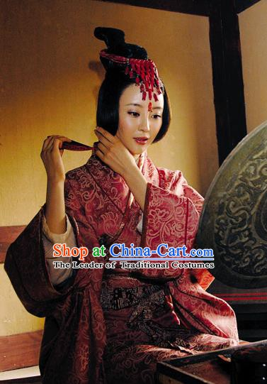Ancient Chinese Western Chu Imperial Concubine Yu Ji Consort Yu Replica Costume for Women