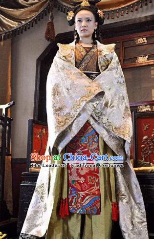 Ancient Chinese Tang Dynasty Empress Hanfu Dress Replica Costume for Women