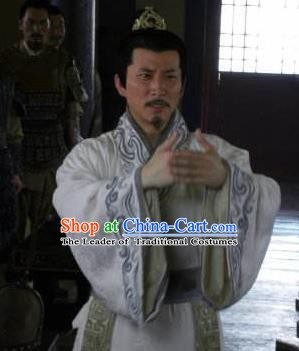Ancient Chinese Han Dynasty Statesman Chancellor Replica Costume for Men
