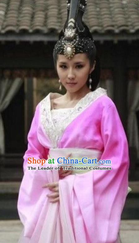 Ancient Chinese Qin Dynasty Palace Lady Imperial Consort Hanfu Dress Replica Costume for Women