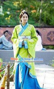 Chinese Ancient Han Dynasty Princess Liu Boji Hanfu Dress Replica Costume for Women
