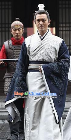 Chinese Ancient Nirvana in Fire Swordsman General Marshal Xiao Pingzhang Replica Costume for Men