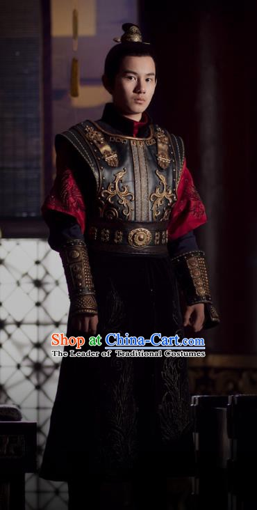 Ancient Chinese Nirvana in Fire Southern Liang State Crown Prince Xiao Yuanshi Replica Costume for Men