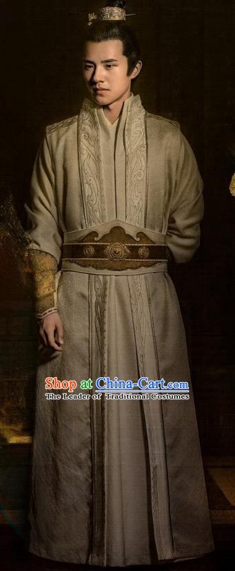 7594374fb Nirvana in Fire Chinese Ancient Young Hero Swordsman General Xiao Pingjing Replica  Costume for Men
