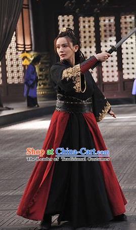 866743643 Nirvana in Fire Chinese Ancient Swordswoman Female Knight-errant Replica  Costume for Women